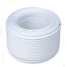 Coaxial Cable RG6 Cable (White) For DTH- 100 MTR