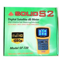 SOLID SF-720 Rechargeable Digital Satellite DB Meter with Torch